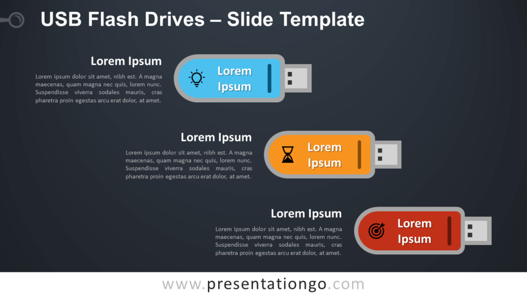 Free USB Flash Drives Infographic for PowerPoint and Google Slides