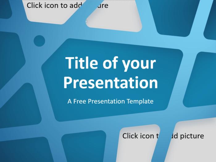 Free BLUE WEB Template for Google Slides - Cover Slide
