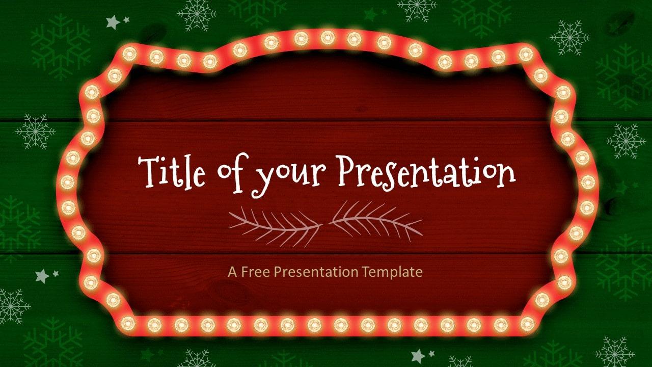 Free Christmas Frames Template for Google Slides - Cover Slide