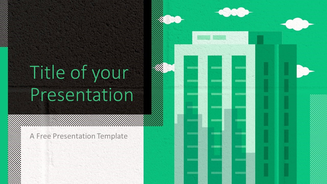 Free Downtown Template for Google Slides - Cover Slide