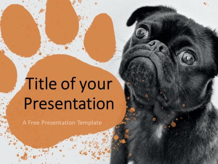 Free Pets Template for Google Slides - Cover Slide