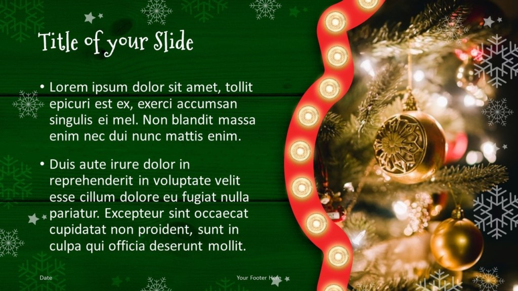 Free Christmas Frames Template for Google Slides – Title and Content Slide (Variant 1)