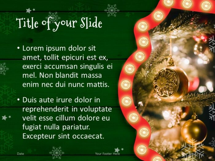 Free Christmas Frames Template for PowerPoint – Title and Content Slide (Variant 1)