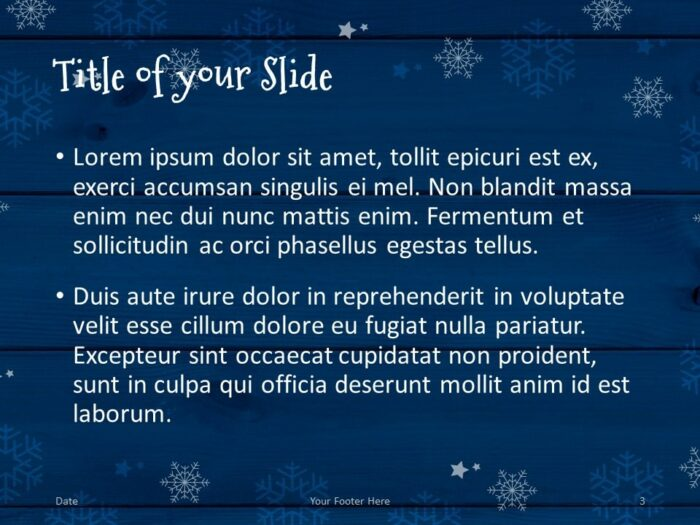 Free Christmas Frames Template for PowerPoint – Title and Content (Variant 2)