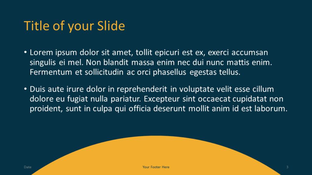 Free Golden Ring Template for Google Slides – Title and Content Slide (Variant 2)