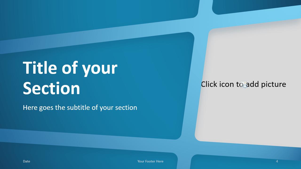Free BLUE WEB Template for Google Slides – Section Slide (Variant 1)