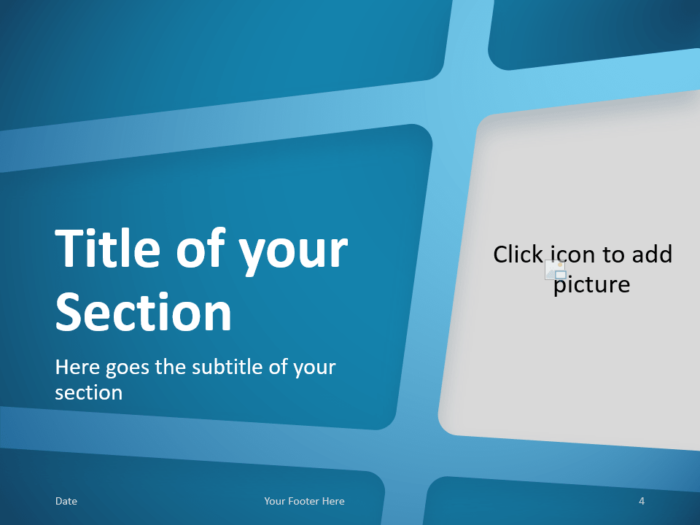 Free BLUE WEB Template for PowerPoint – Section Slide (Variant 1)