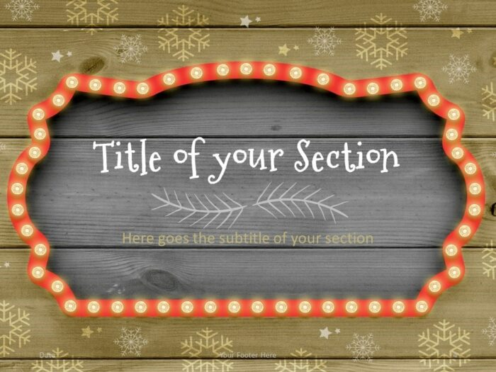 Free Christmas Frames Template for PowerPoint – Section Slide (Variant 1)