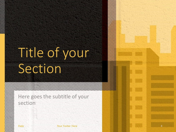Free Downtown Template for PowerPoint – Section Slide (Variant 1)