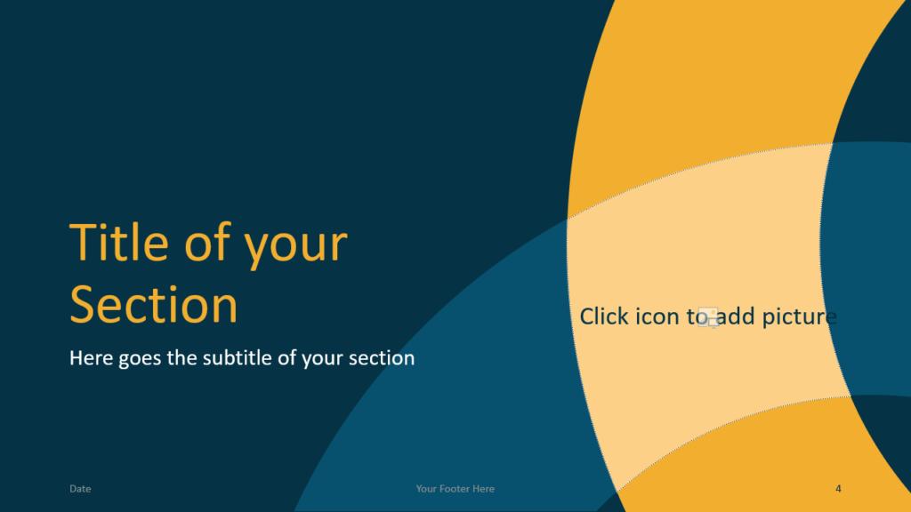 Free Golden Ring Template for Google Slides – Section Slide (Variant 1)