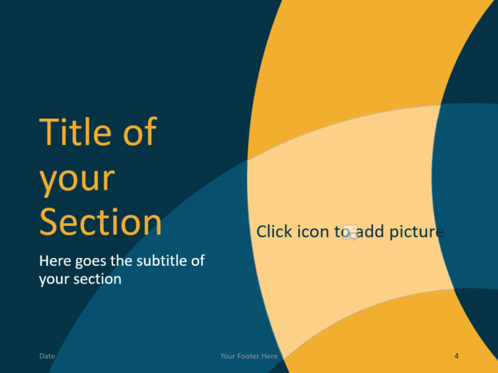 Free Golden Ring Template for PowerPoint – Section Slide (Variant 1)
