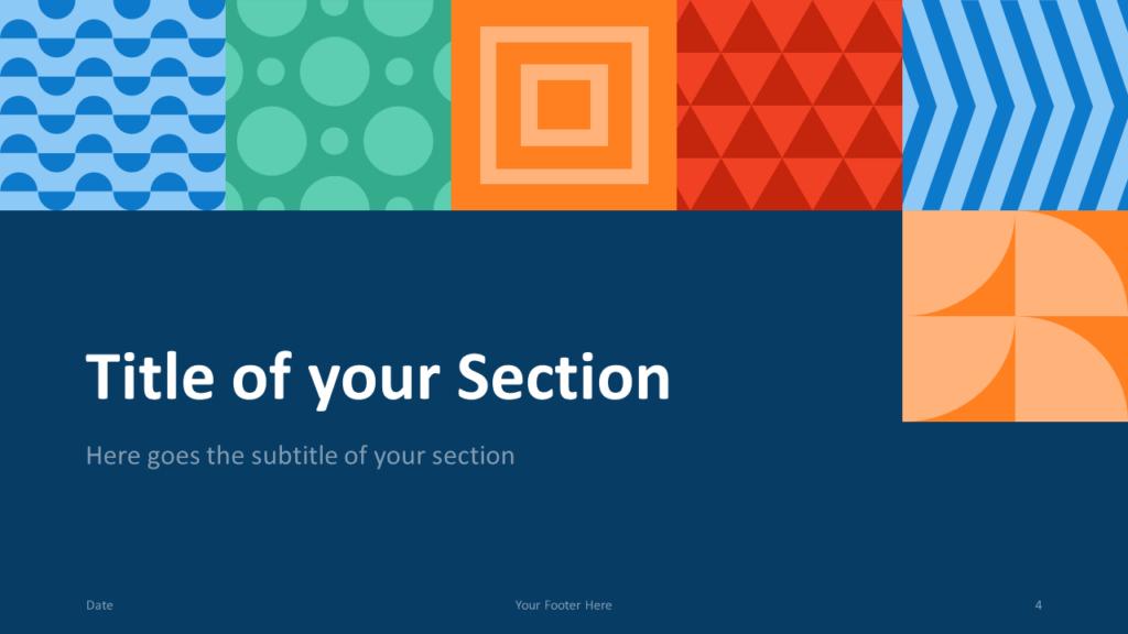 Free NEO GEOMETRIC Template for Google Slides – Section Slide (Variant 1)