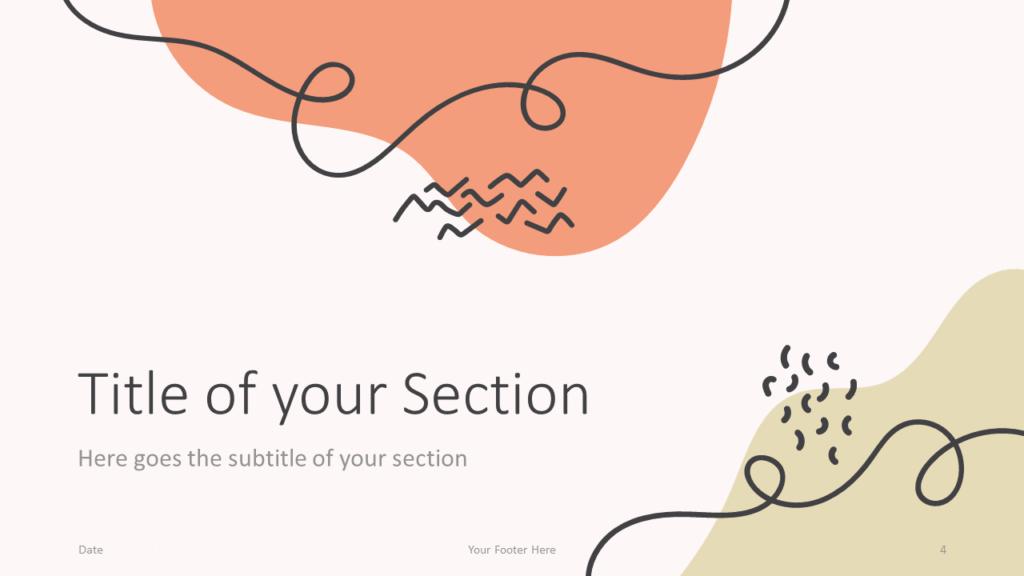 Free Trendy Memphis Template for Google Slides – Section Slide (Variant 1)