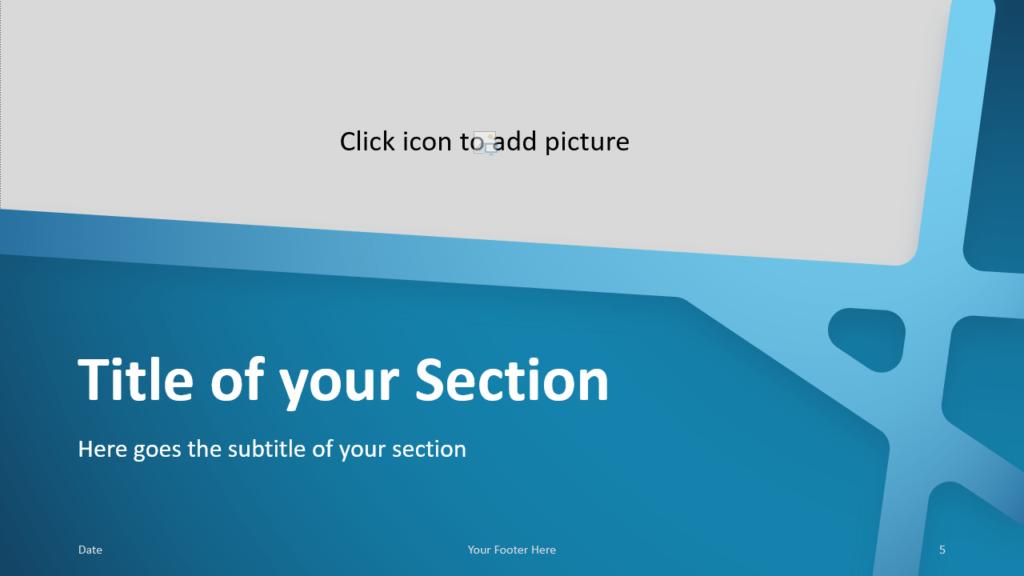 Free BLUE WEB Template for Google Slides – Section Slide (Variant 2)