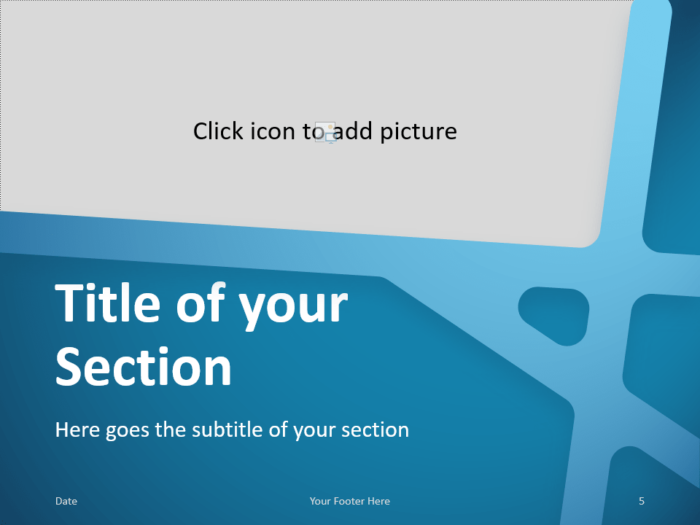 Free BLUE WEB Template for PowerPoint – Section Slide (Variant 2)