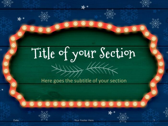 Free Christmas Frames Template for PowerPoint – Section Slide (Variant 2)