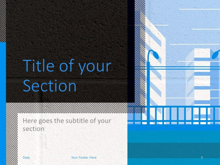 Free Downtown Template for PowerPoint – Section Slide (Variant 2)