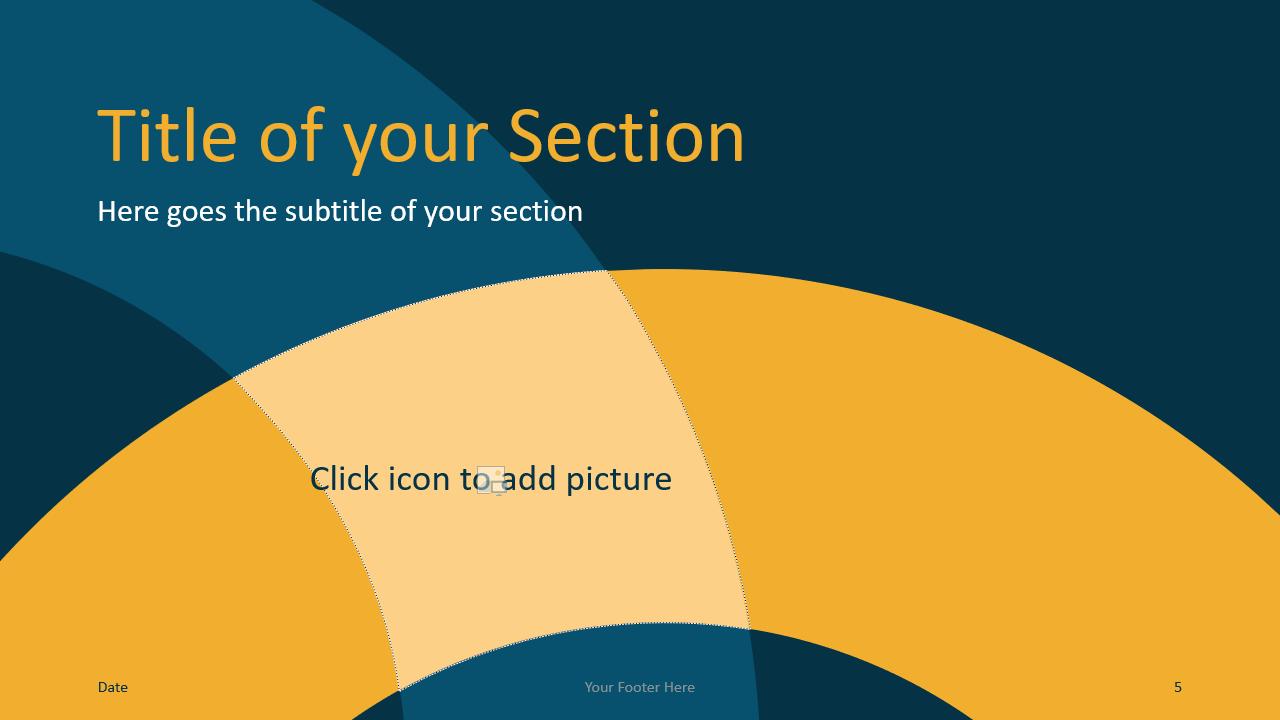 Free Golden Ring Template for Google Slides – Section Slide (Variant 2)