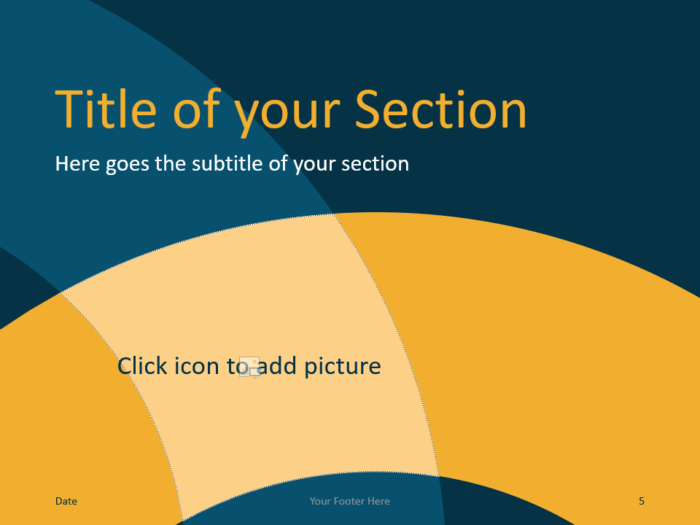 Free Golden Ring Template for PowerPoint – Section Slide (Variant 2)