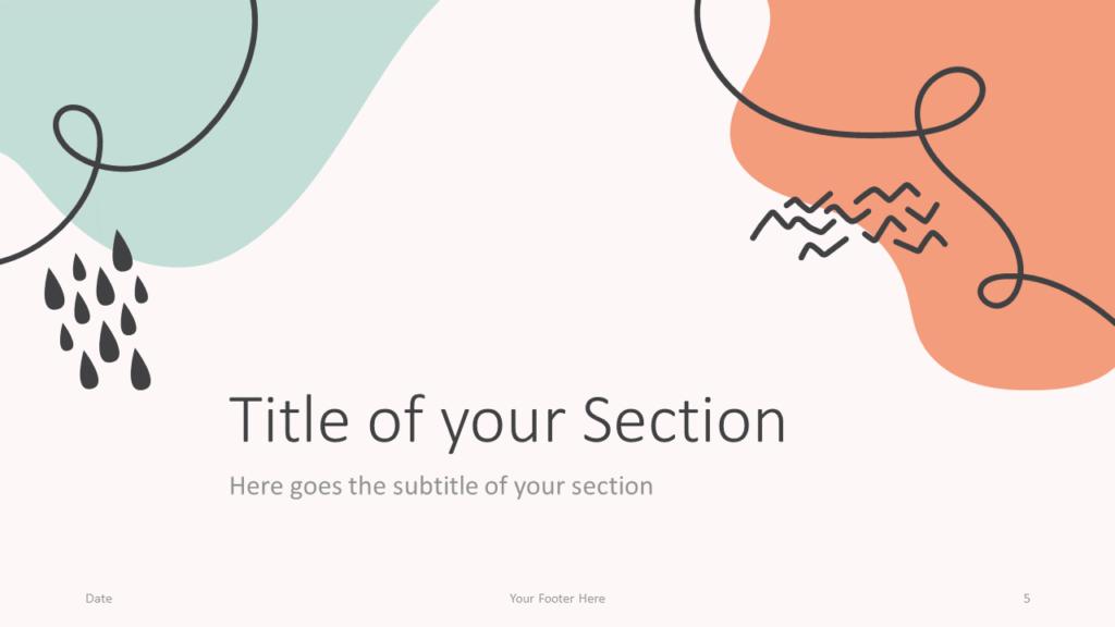 Free Trendy Memphis Template for Google Slides – Section Slide (Variant 2)