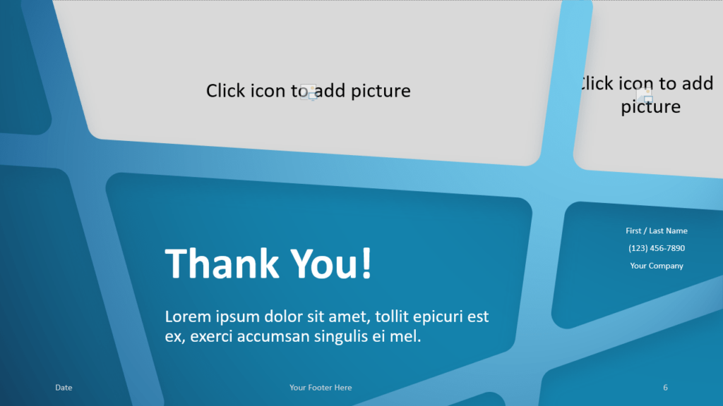 Free BLUE WEB Template for Google Slides - Closing / Thank you
