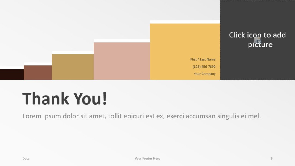 Free Chart Palette Template for Google Slides - Closing / Thank you