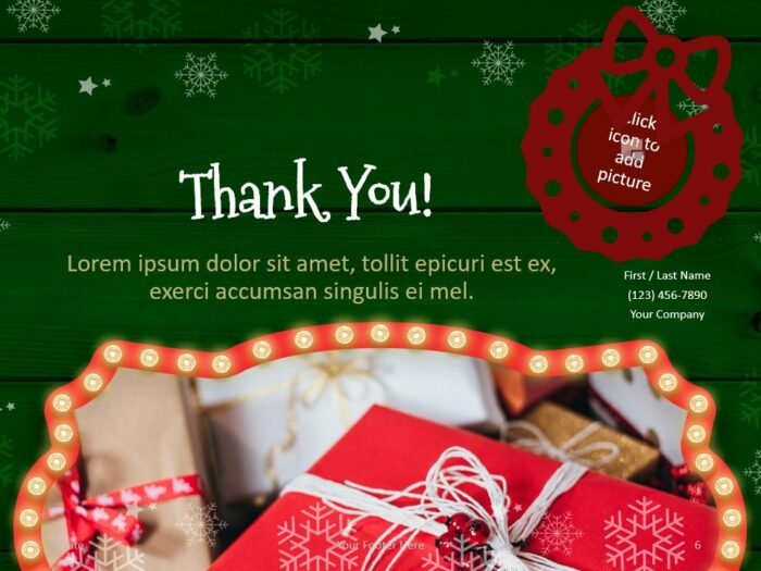 Free Christmas Frames Template for PowerPoint - Closing / Thank you
