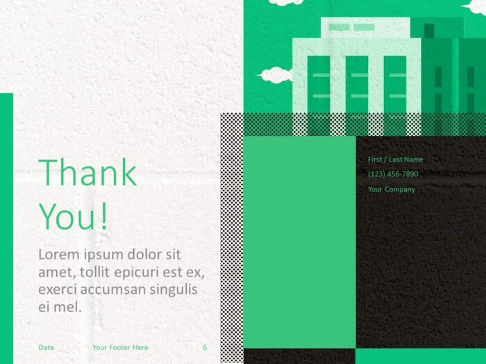 Free Downtown Template for PowerPoint - Closing / Thank you