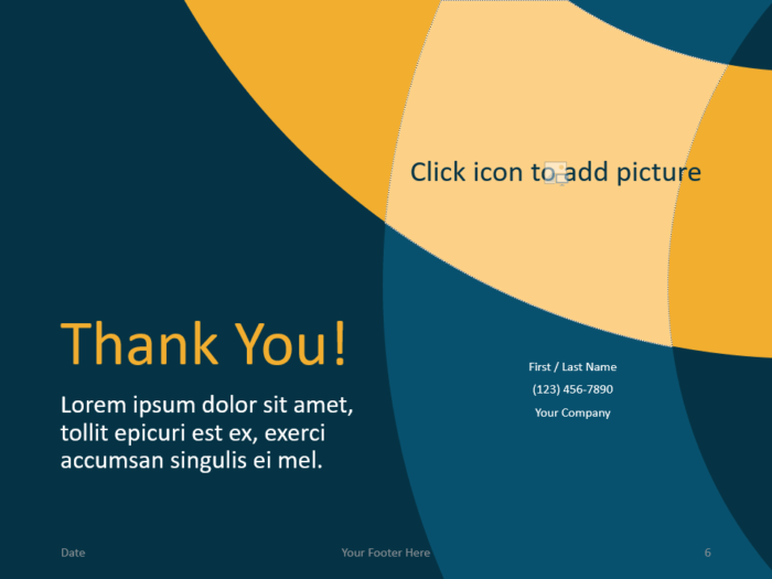 Free Golden Ring Template for PowerPoint - Closing / Thank you