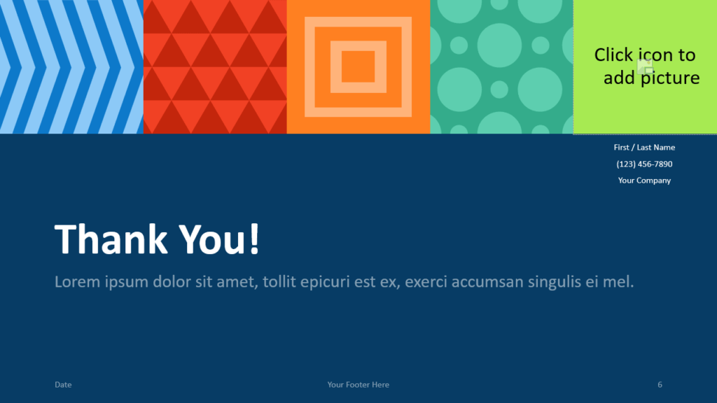 Free NEO GEOMETRIC Template for Google Slides - Closing / Thank you