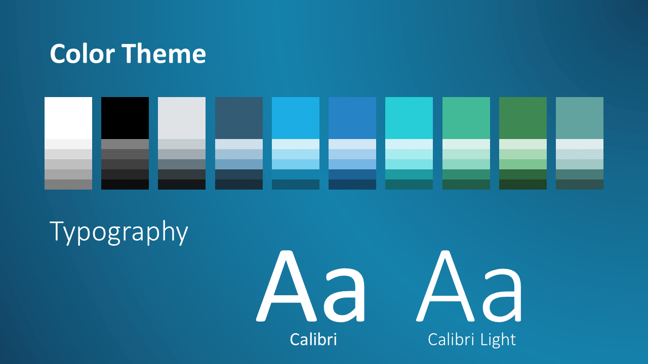 Free BLUE WEB Template for Google Slides – Colors and Fonts