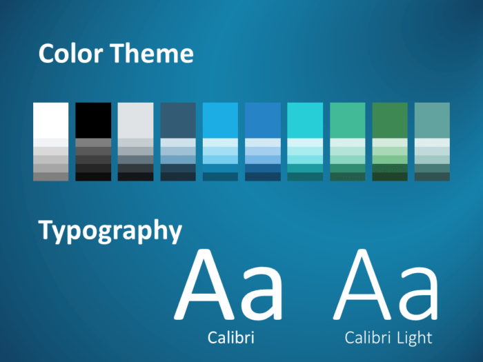 Free BLUE WEB Template for PowerPoint – Colors and Fonts