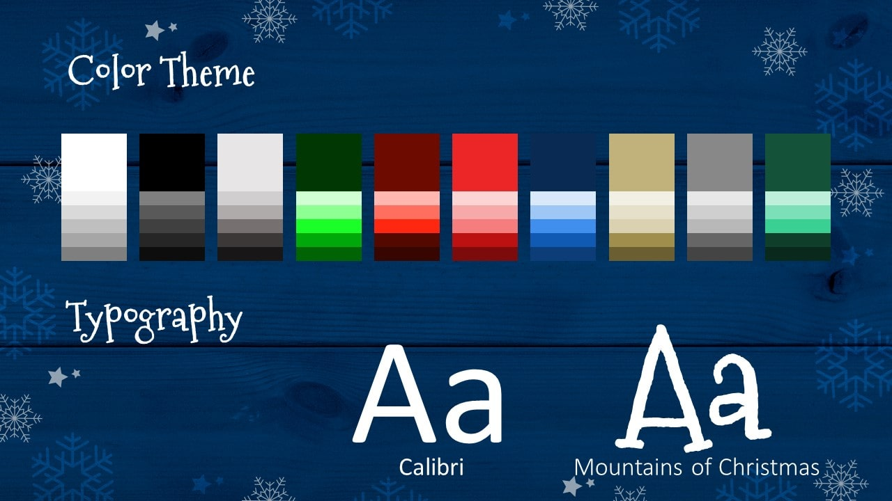 Free Christmas Frames Template for Google Slides – Colors and Fonts