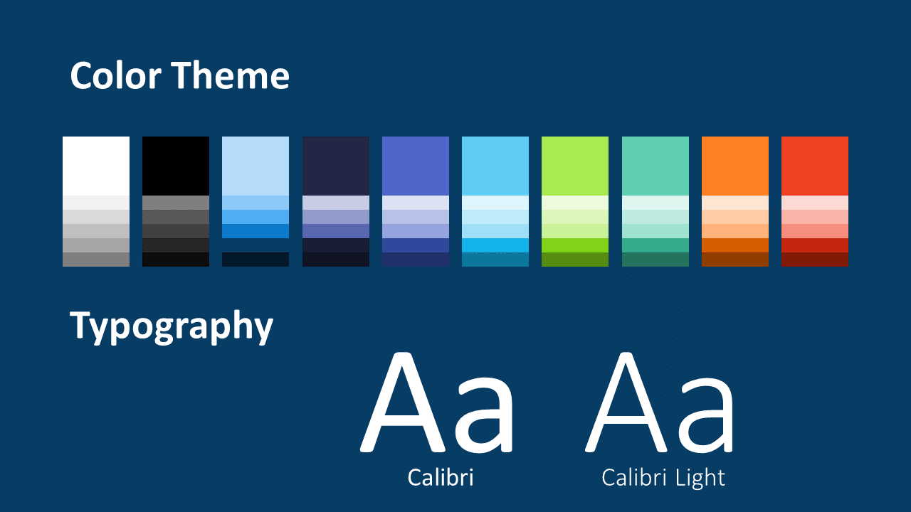 Free NEO GEOMETRIC Template for Google Slides – Colors and Fonts