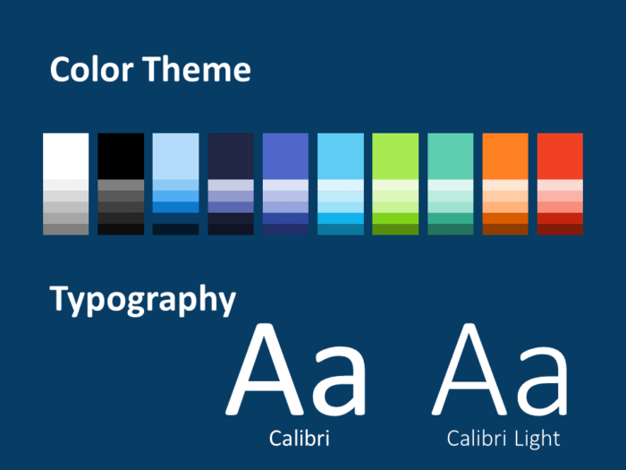 Free NEO GEOMETRIC Template for PowerPoint – Colors and Fonts