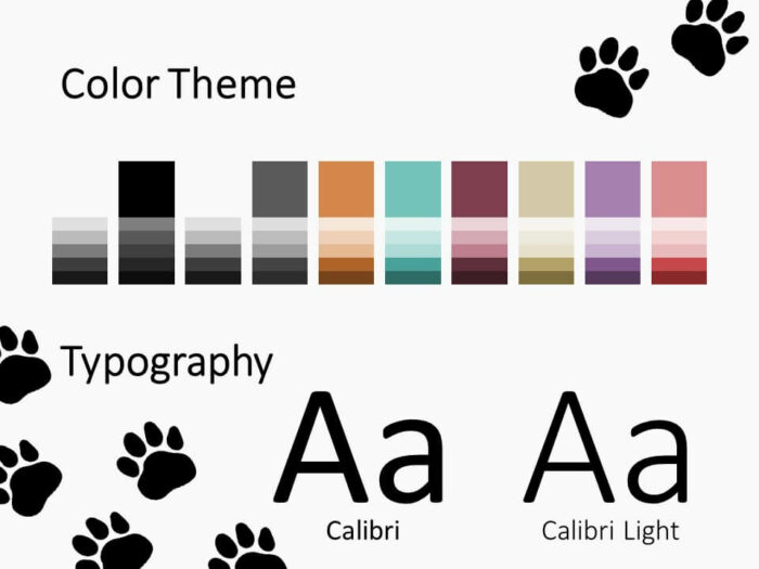 Free Pets Template for PowerPoint – Colors and Fonts