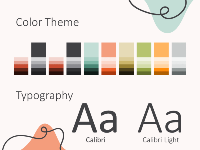 Free Trendy Memphis Template for PowerPoint – Colors and Fonts