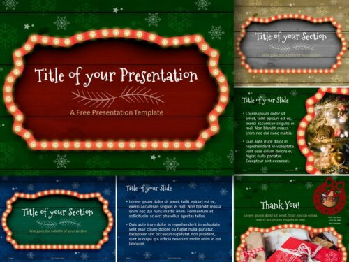 Free Christmas Frames Template for PowerPoint and Google Slides