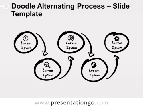 Free Doodle Alternating Process for PowerPoint