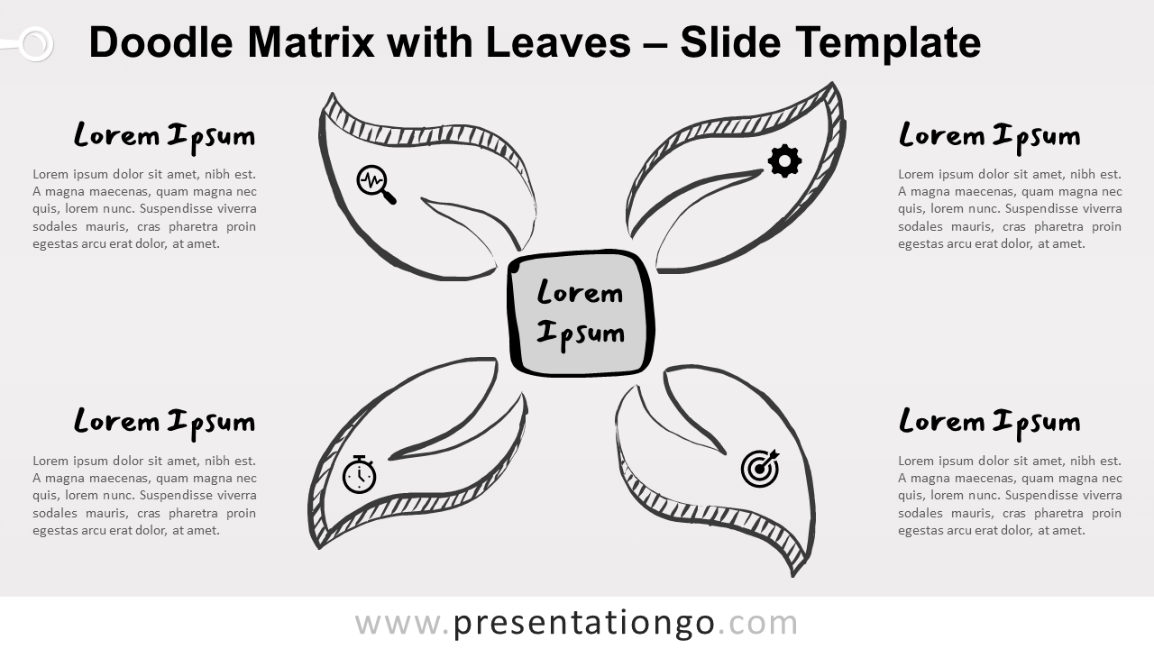 Free Doodle Matrix Leaves for PowerPoint and Google Slides