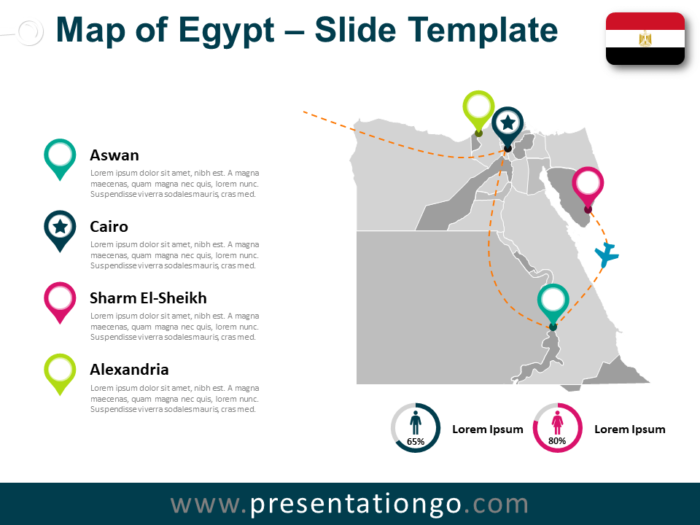 Free Egypt Map for PowerPoint