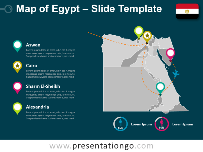 Free Egypt Map Template for PowerPoint