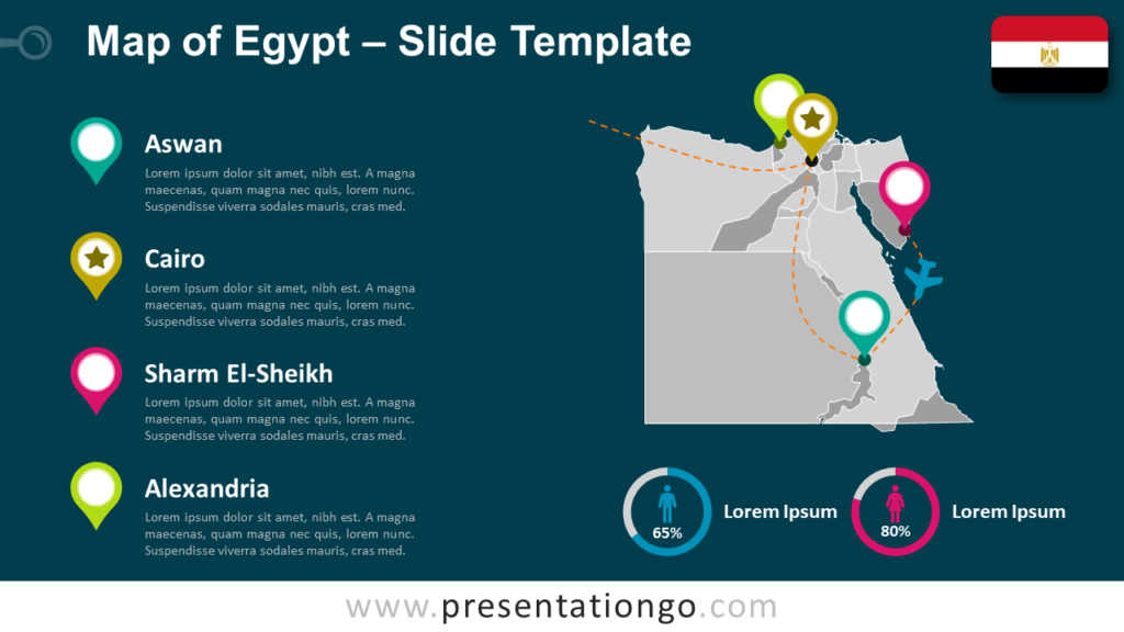 Free Egypt Map Template for PowerPoint and Google Slides