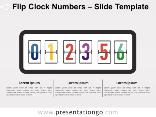 Free Flip Clock Numbers for PowerPoint