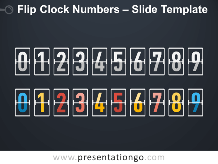 Free Flip Clock Numbers Serie Infographic for PowerPoint
