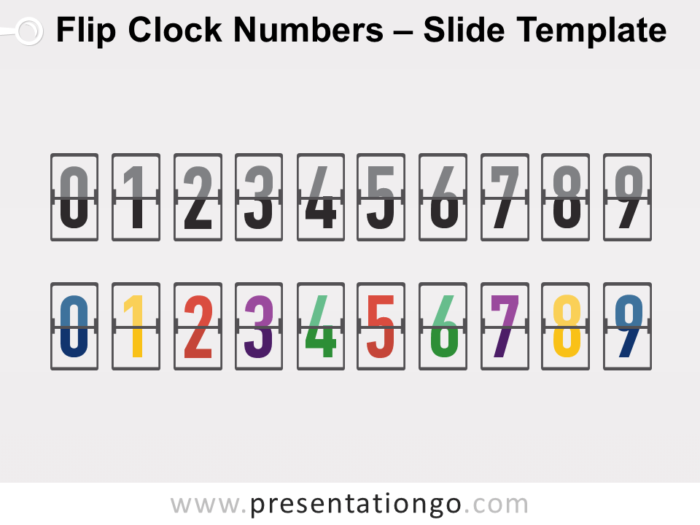 Free Flip Clock Numbers Serie for PowerPoint