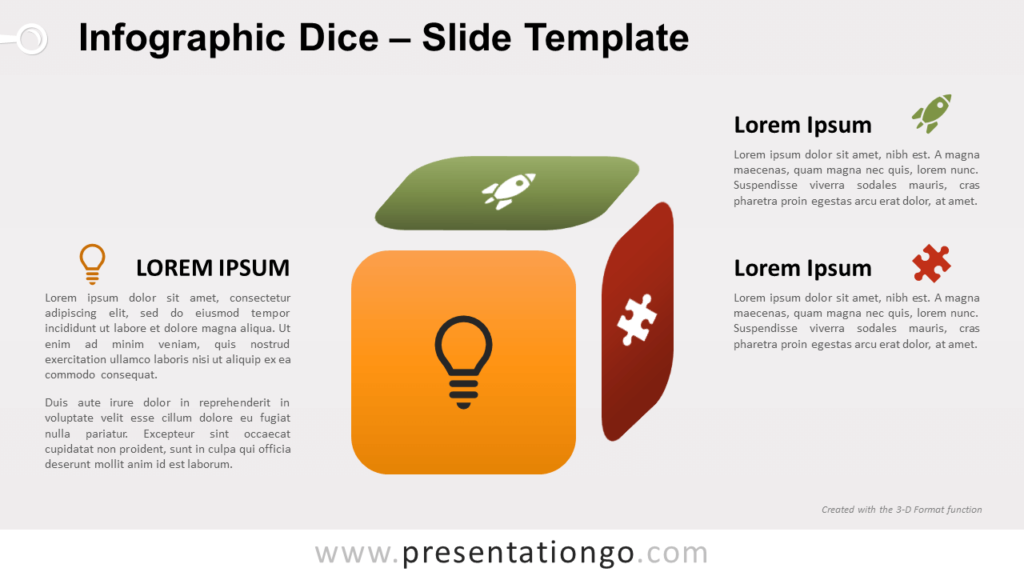 Free Infographic Dice for PowerPoint and Google Slides