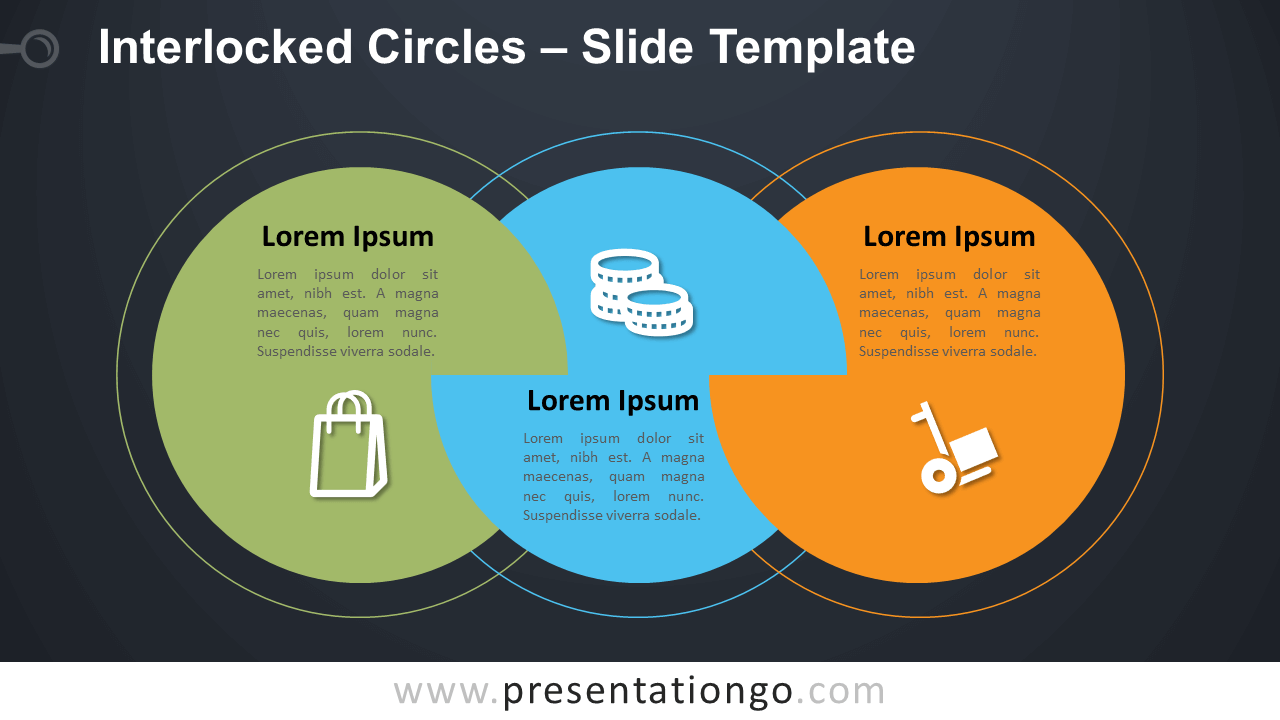 Free Interlocked Circles Infographic for PowerPoint and Google Slides