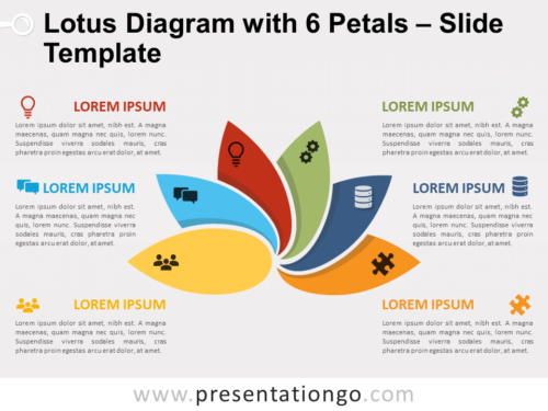 Free Lotus Diagram with 6 Petals for PowerPoint
