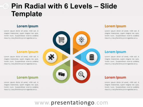 Free Pin Radial with 6 Levels for PowerPoint